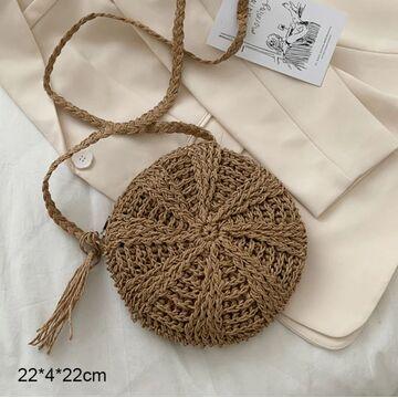 Женская вязанная сумка-шопер, П3807
