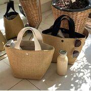 Женская соломенная сумка-шопер, П3810