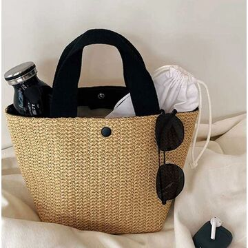Женская соломенная сумка-шопер, П3811