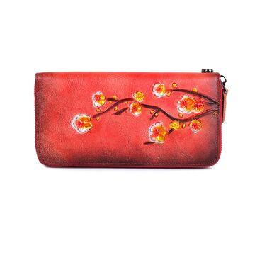 Женский кошелек, красный П3814