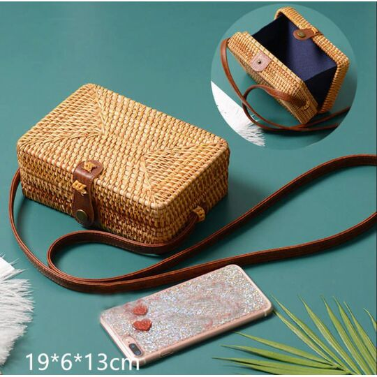 Женская сумка соломенная П3820