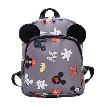 "Детский рюкзак ""Микки Маус"", серый П3854"
