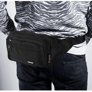 Мужская сумка на пояс, черная П3857