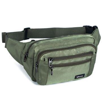 Мужская сумка на пояс, зеленая П3858