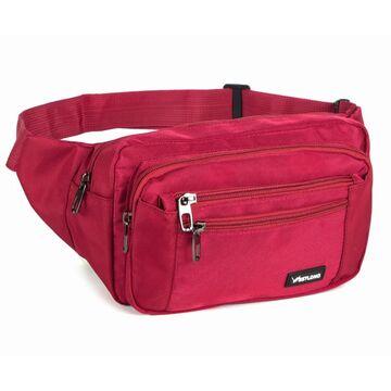 Мужская сумка на пояс, красная П3859
