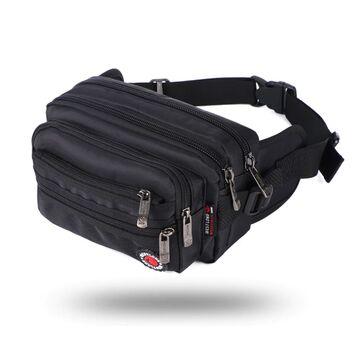 Мужская сумка на пояс, черная П3860
