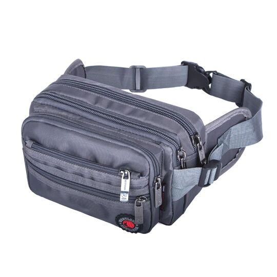 Мужская сумка на пояс, серая П3861