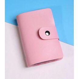 Визитница, розовая 0259