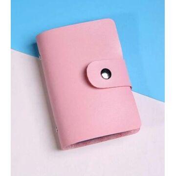 Визитница, розовая П0259