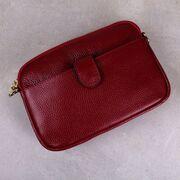 Женская сумка клатч, красная П3898