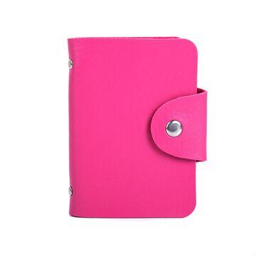 Визитница, розовая П0262