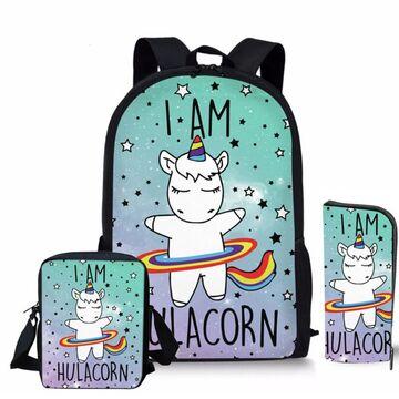 "Детский комплект (рюкзак, сумка, карандаш) ""Единорог"" П3912"