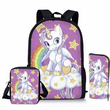 "Детский комплект (рюкзак, сумка, карандаш) ""Единорог"" П3913"