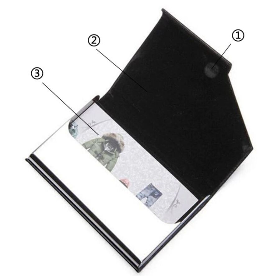 Визитницы - Визитница RFID, черная П0268
