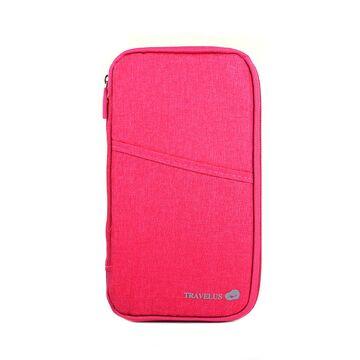 Кошелек органайзер для путешествий, розовый П4004