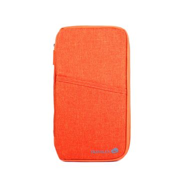 Кошелек органайзер для путешествий, оранжевый П4007