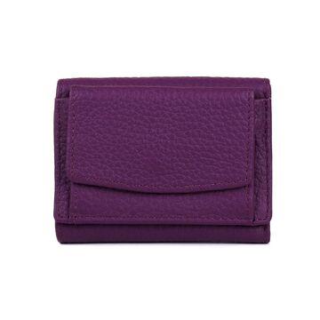 Женский кошелек из кожи, фиолетовый П4018