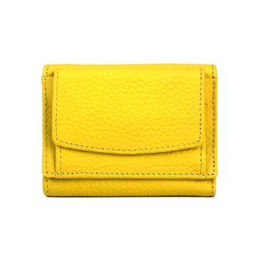 Женский кошелек из кожи, желтый П4020