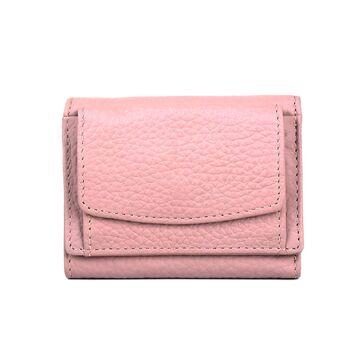 Женский кошелек из кожи, розовый П4021