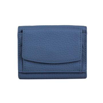 Женский кошелек из кожи, синий П4022