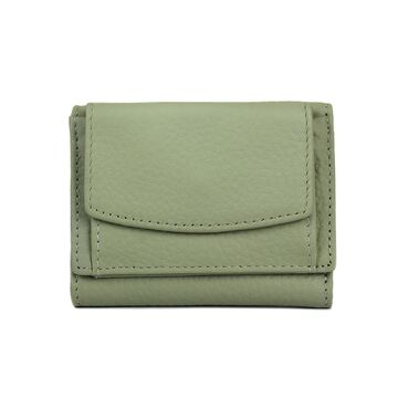 Женский кошелек из кожи, зеленый П4023