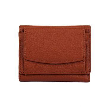 Женский кошелек из кожи, коричневый П4024