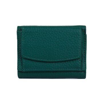 Женский кошелек из кожи, зеленый П4025