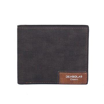 Мужской кошелек, черный П0276
