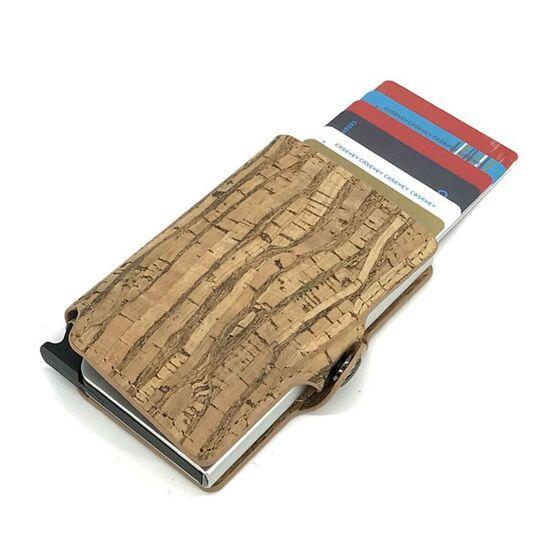 Визитница RFID, из кожи, коричневая П4111