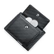 Зажим, кошелек RFID, черный, карбон П4113