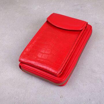 """Женская сумочка, клатч """"WEICHEN"""", красная П4119"""