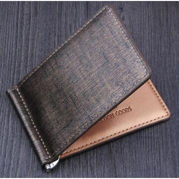 Зажим, кошелек, коричневый П0289
