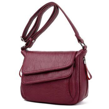 Женская сумка, красная 0297