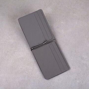 Зажим, кошелек, серый П0299