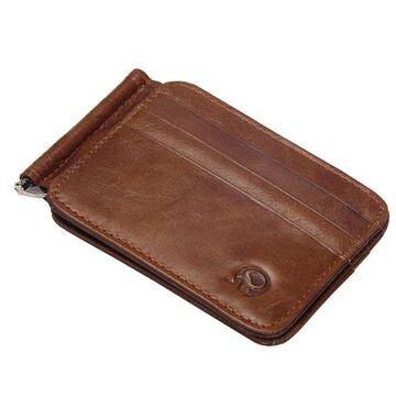 Мужские кошельки - Зажим, кошелек, коричневый П0306