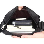 Мужские сумки - Мужская сумка VORMOR, черная с кошельком П0309