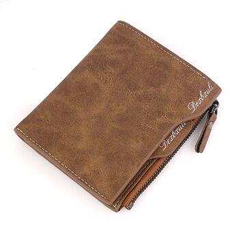 Мужской кошелек, коричневый П0310
