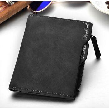 Мужской кошелек, черный 0311