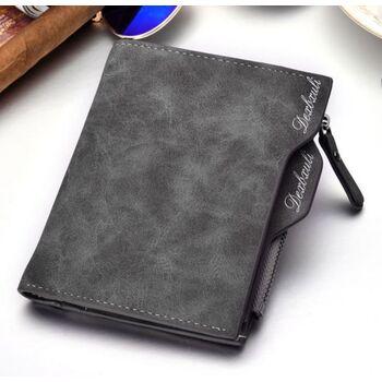 Мужской кошелек, серый П0312