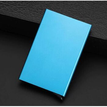 Визитница, голубая П0316