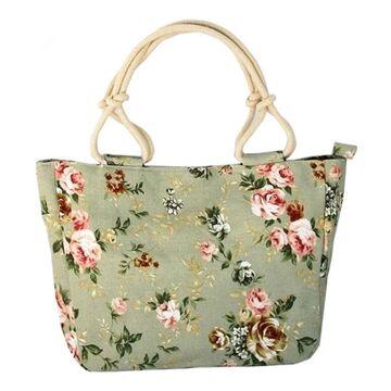 Женская сумка с цветами П0319