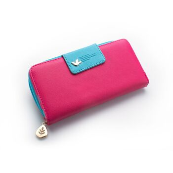 Женский кошелек, розовый П0325