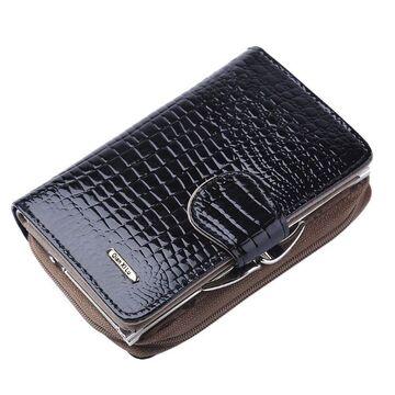 Женский кошелек, черный П0332