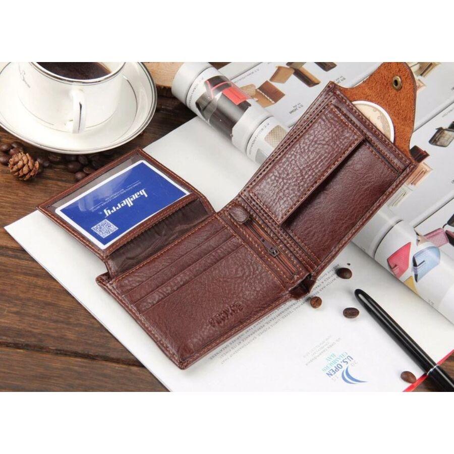 Мужские кошельки - Мужской кошелек, коричневый 0344