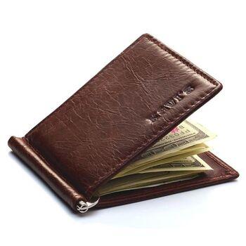 Зажим KAVIS, кошелек коричневый 0352