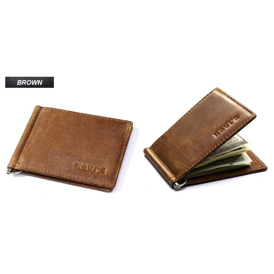 Мужские кошельки - Зажим KAVIS, кошелек, коричневый 0353