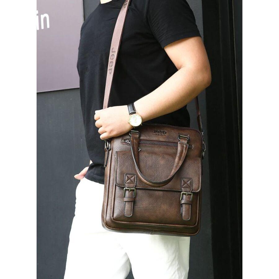 Мужские сумки - Мужская сумка MYOSAZEE, коричневая 0360