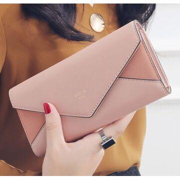 Женский кошелек, розовый П0365