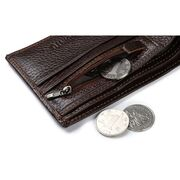 Мужские кошельки - Мужской кошелек, коричневый П0377