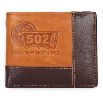 Мужской кошелек, коричневый П0378